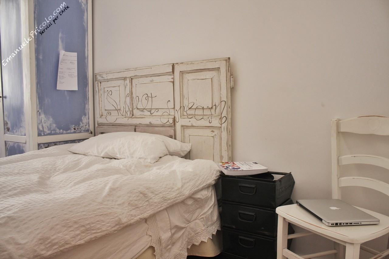 Spalliere e comodini artigianali emanuele pricolo - Spalliere da letto ...