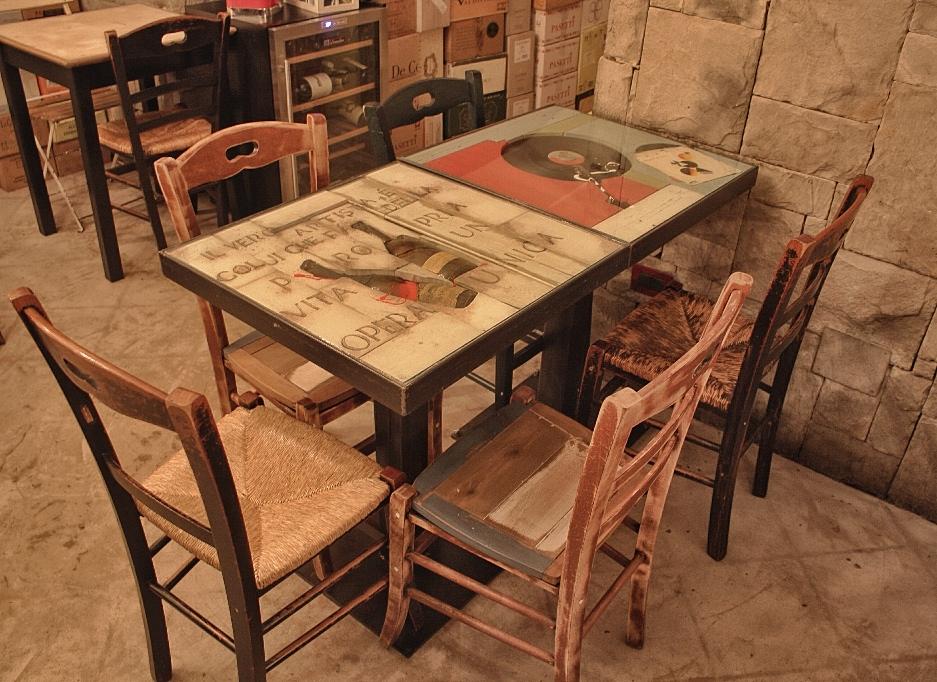 Realizzazione artigianale di tavoli emanuele pricolo for Mobili da ristorante di design